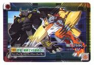 Digimon BlackWarGreymon WarGreymon Fight card
