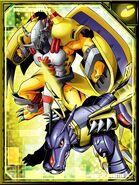 WarGreymon and MetalGarurumon RE Collectors Card