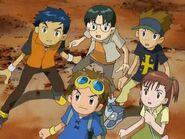 Takato, Henry, Kazu, Kenta y Juri