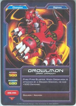 Growlmon DM-195 (DC)