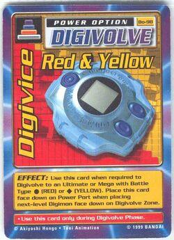 Digivice Red & Yellow Bo-98 (DB)