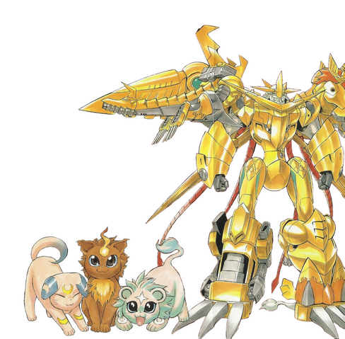 File:Shoutmon EX6 and Royal Knights squires (Cat forms) m.png
