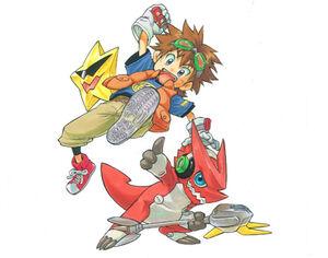 Digimon xros wars promo art
