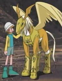 Pegasusmonund T.K. Nefertimon und Kari