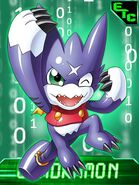 Gumdramon collectors card