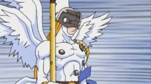 Angemon evoluciona a mega campeon