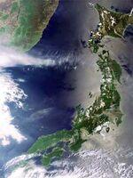 Foto de japon satelite