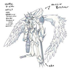 Omegamon merciful rough sketch watanabe kenji