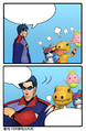 Agumon (2006 anime), Gaomon, Lalamon, and Richard Sampson (Comic) dm.png