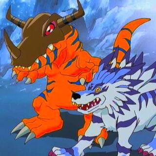 Garurumon y Greymon