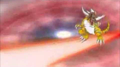 Agumon X War X digivolve a WarGreymon X-1