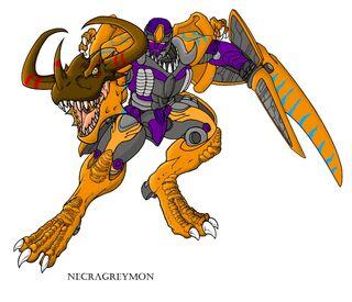 Megatron Greymon WTF by Sieberwolf