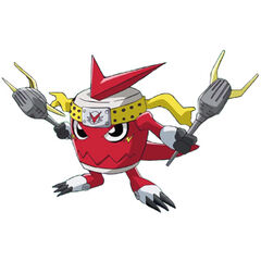 Xros entre shoutmon y donkogomon