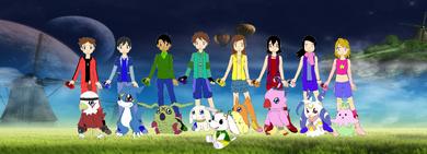 Protagonistas de Digimon Revolución