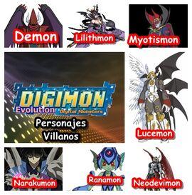 Personajes Villanos-DigimonE-Alisschan