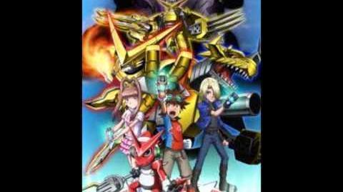Digimon Adventure 04: Belzeemon ayuda a todos. Matt en el fondo del Delipa.