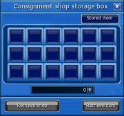 Consignment shop storage box