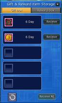 Reward storage