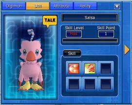 Digimon Skill Fenster