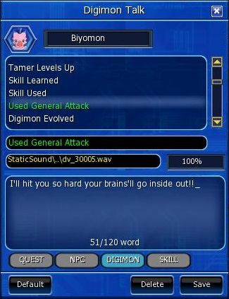 Digimon Talk Fenster
