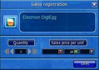 Sales registration