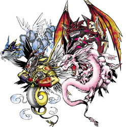 Four great dragons