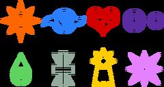 Simboli delle Digipietre