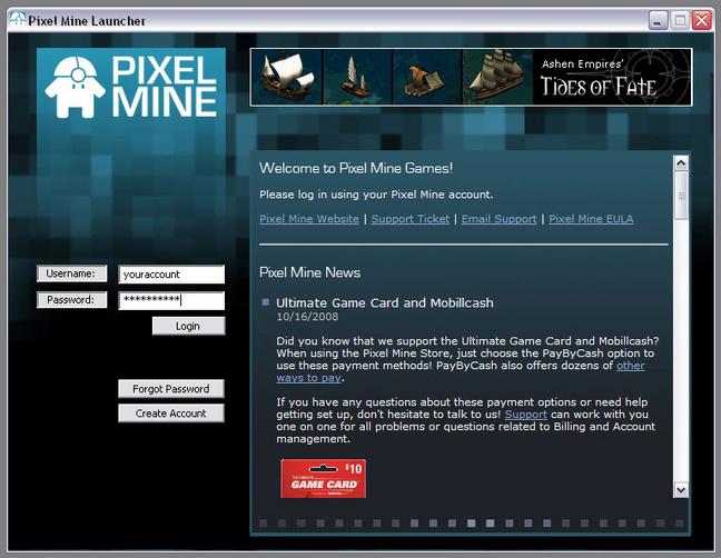 Pixel Mine Launcher