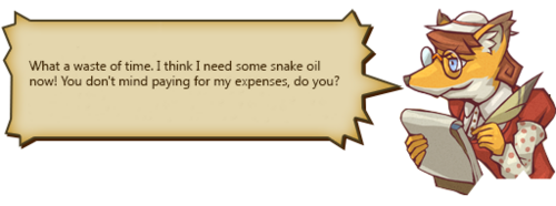 Snake Oil Shirker text F