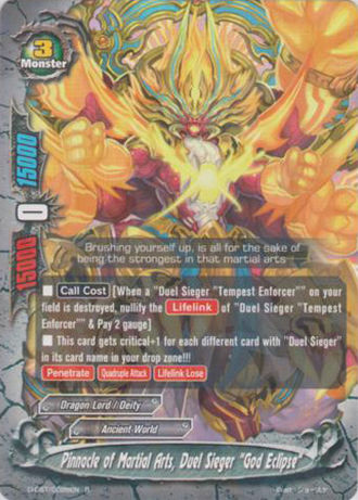 Pinnacle of martial arts duel sieger deity eclipse