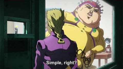 (ジョジョ) Jojo's Bizarre Adventure Golden Wind ~ Giorno meets Polpo ~ Polpo's Test (2) HD