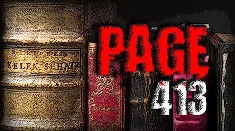 """Page 413"" Creepypasta"