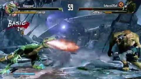 """GREEN RIPTOR?! He's a weird one."" RIPTOR VS SABREWULF KILLER INSTINCT Season 2"