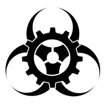 The biopunk biogear logo