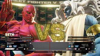 SFV CE KAZUNOKO (SETH) VS RB (GILL) SF5