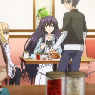 Shido, surprised to see Mayuri next to him