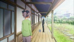 Hayate greeting Chiharu
