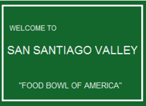 San Santiago Valley sign-0