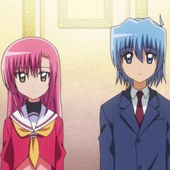 Hinagiku and Hayate using the elevator to the Student Council Office