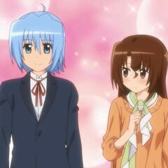 Hayate being secretly gazed by Maria at the end of their third date
