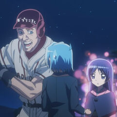Hayate prior to being launched by a baseball player spirit that Isumi summoned