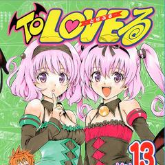 Rito (and Momo and Nana) on the cover of Volume 13 of the original manga