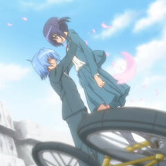 Hayate saving Ayumu during their first encounter (Cuties version)