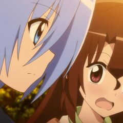 Hayate unknowingly catching Maria in her thoughts of him