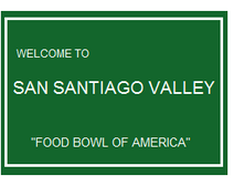 San Santiago Valley sign