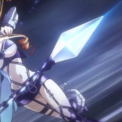 Yuzuru beginning her battle against Kaguya