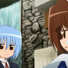 Hayate and Maria discussing what to do with the letter
