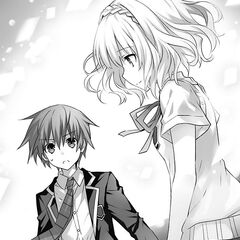 Shido encountering Phantom (in disguise as Rinne Sonogami) for the first time