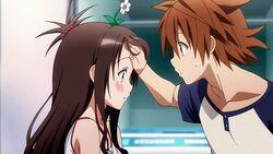 To Love-Ru Darkness OVA - Rito checks on Mikan