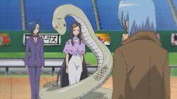 Hayate confronting Kirizaki